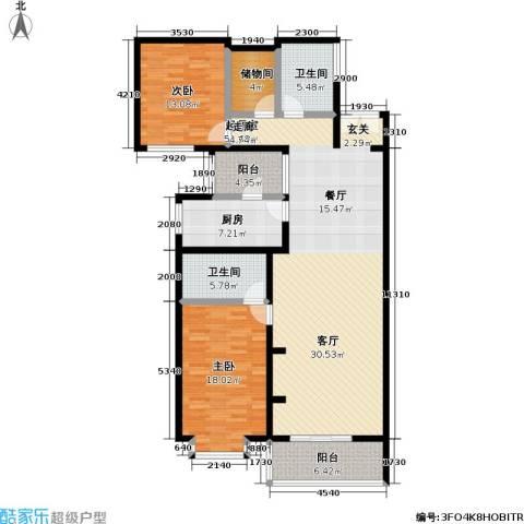 庚坊国际(好来屋)2室0厅2卫1厨133.00㎡户型图