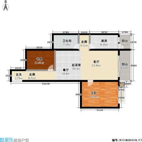 庚坊国际(好来屋)2室0厅1卫1厨121.00㎡户型图