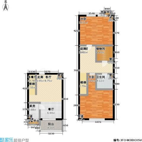 天元瑞�名苑2室1厅1卫1厨109.00㎡户型图
