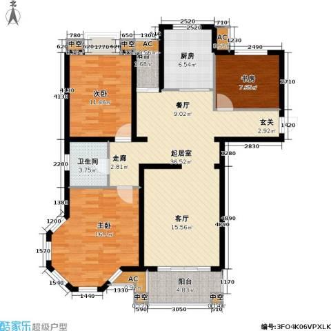 天华绿谷庄园3室0厅1卫1厨105.00㎡户型图