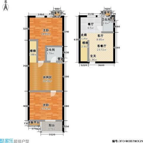 天元瑞�名苑2室1厅2卫0厨109.00㎡户型图