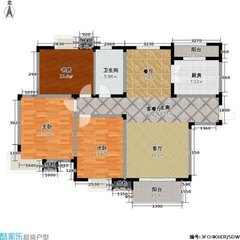 星胜客3室1厅1卫1厨114.29㎡户型图