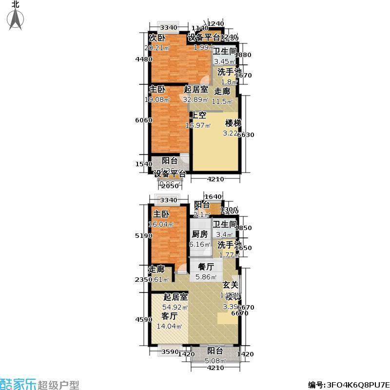 花园村雅苑190.00㎡房型: 复式; 面积段: 190 -190 平方米;户型