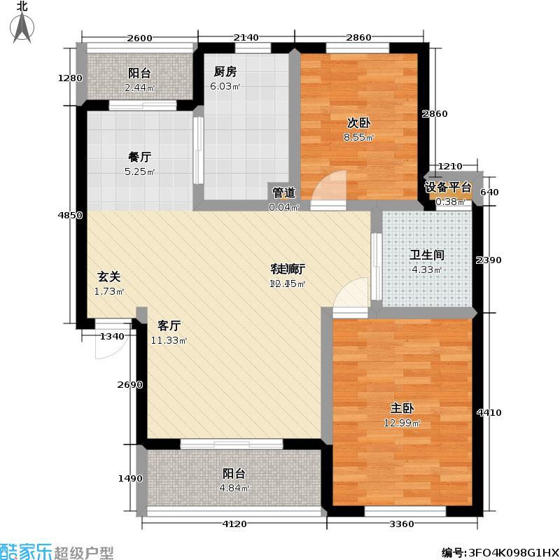 国香园72.00㎡房型户型