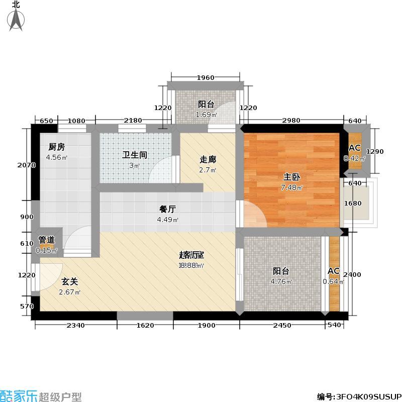 联发・嘉园4号楼6户型