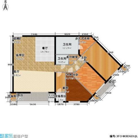 里外里公寓3室0厅2卫1厨230.00㎡户型图