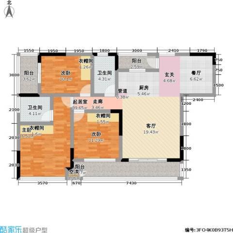 宗申・动力城 动力城3室0厅2卫0厨107.00㎡户型图