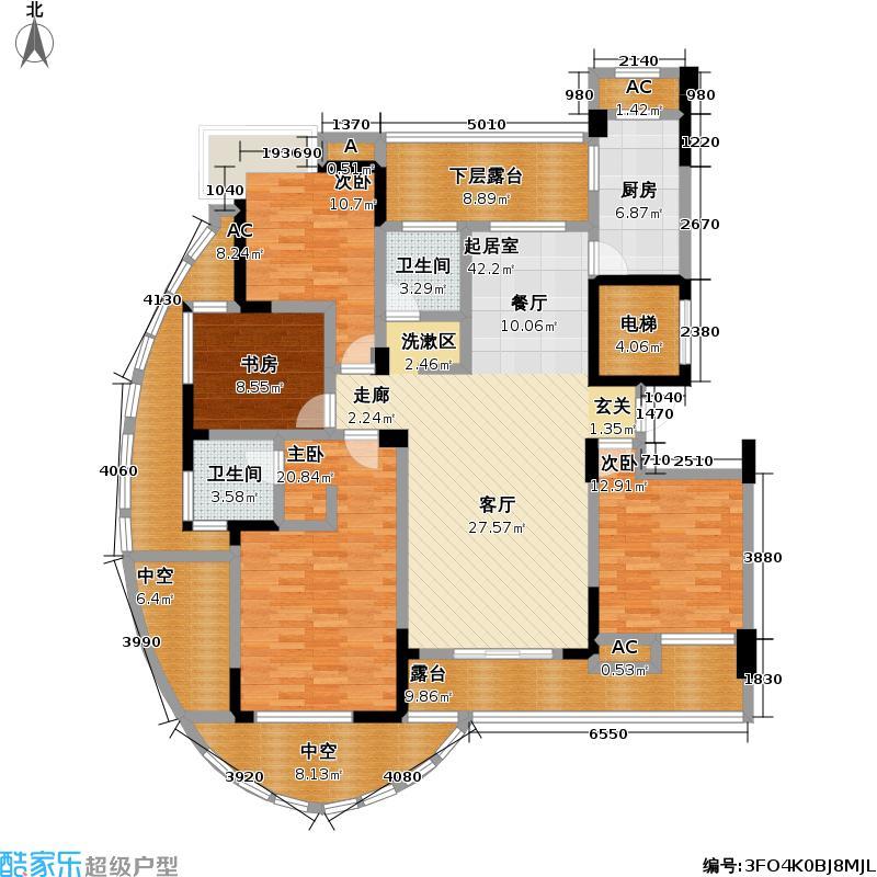 中凯・东方红街152.18㎡东方红街4期4-A奇户型