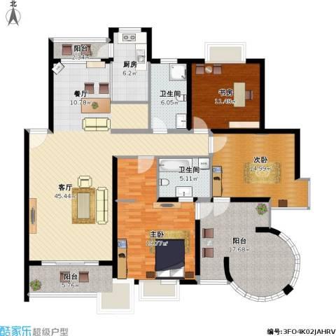 香阁丽苑3室1厅2卫1厨191.00㎡户型图