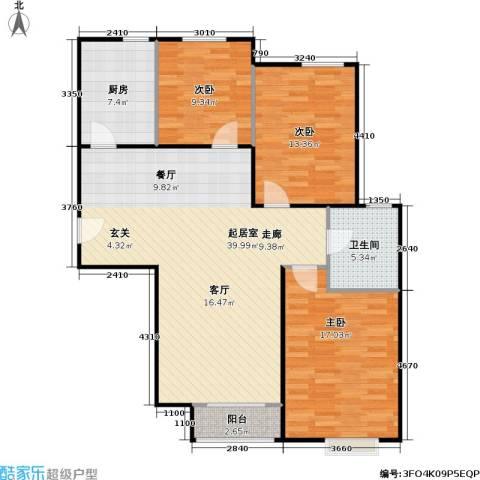 潮白人家3室0厅1卫1厨101.00㎡户型图