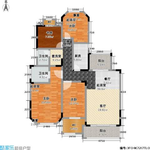 城置金色年华2室0厅2卫1厨138.00㎡户型图