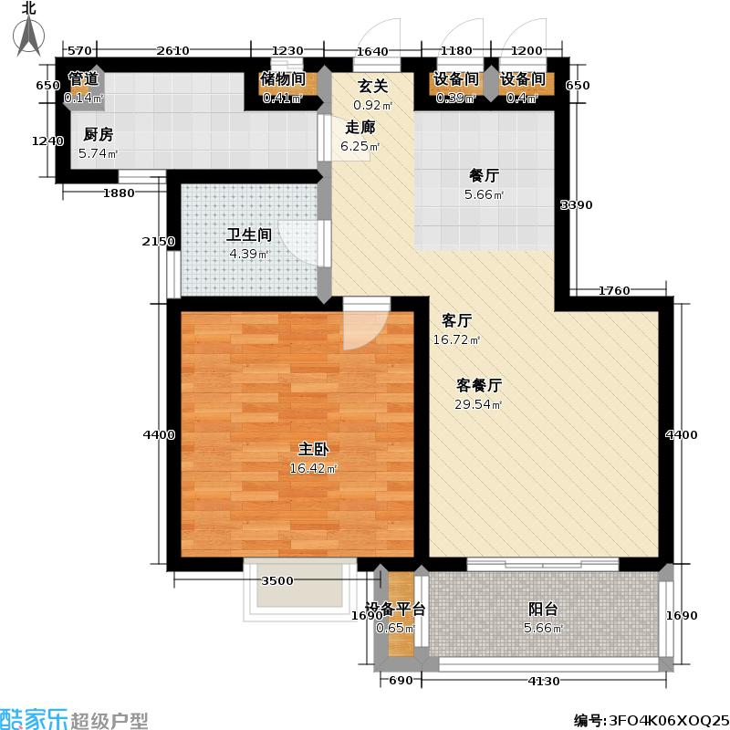 国香园74.00㎡B户型