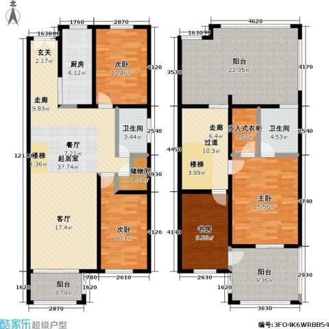 新时代景庭4室0厅2卫1厨210.00㎡户型图
