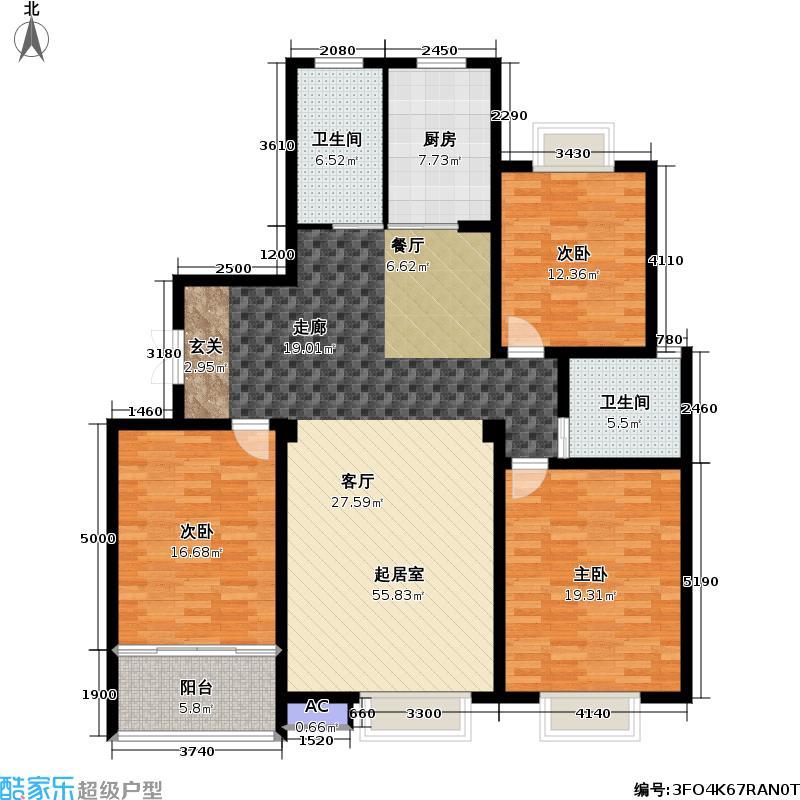 天顺御和苑146.00㎡天顺御和苑户型图三房二厅二卫-146平方米-13套(5/6张)户型10室