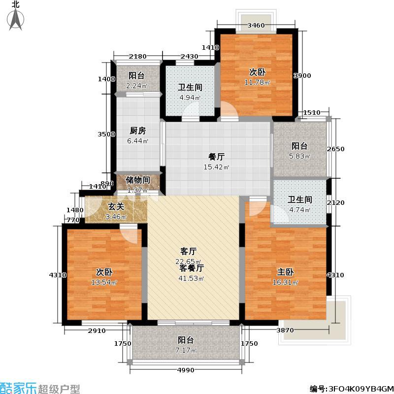 金沙嘉年华四期125.00㎡房型户型
