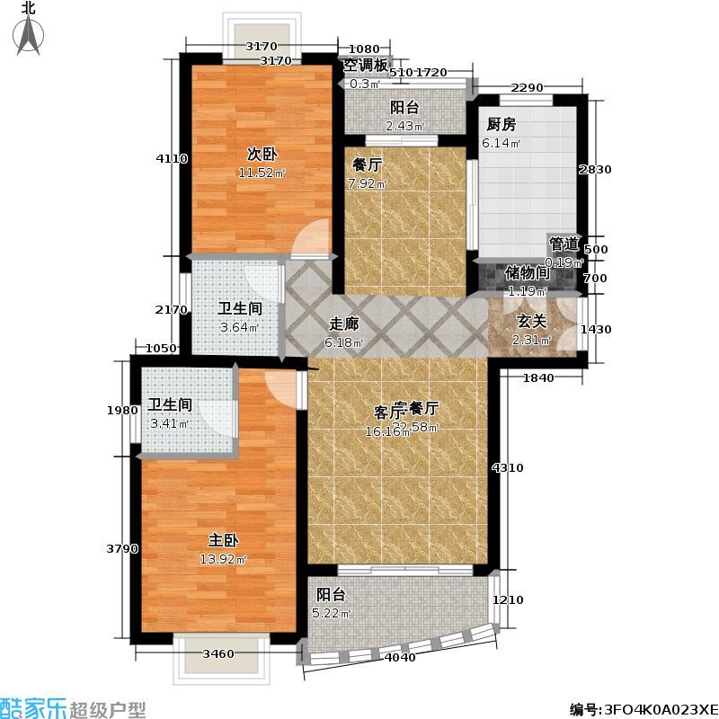 西雅图92.00㎡房型户型