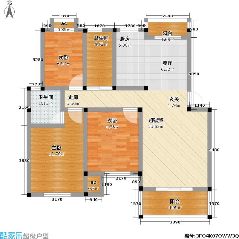 三元新村93.31㎡-20套户型