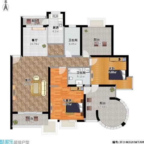 香阁丽苑2室1厅2卫1厨191.00㎡户型图
