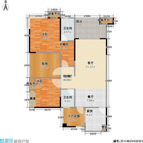 复地・上城国际公寓 上城国际公寓2室1厅2卫1厨139.00㎡户型图