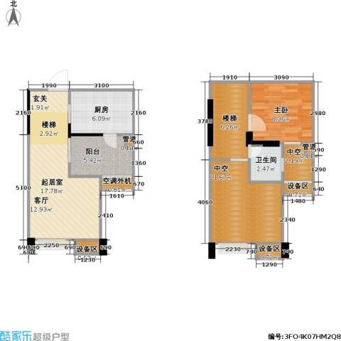 睿尚 睿尚・MOHO1室0厅1卫1厨63.35㎡户型图