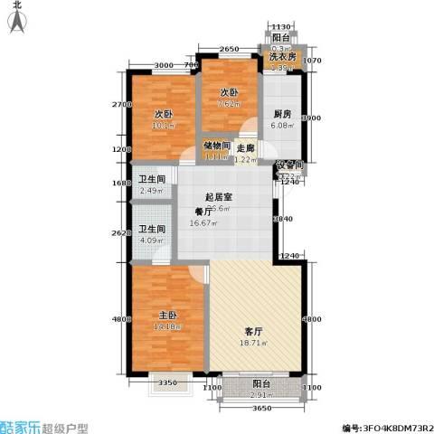 摩卡空间3室0厅2卫1厨123.00㎡户型图