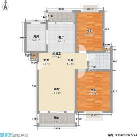 经典花苑2室0厅1卫1厨85.00㎡户型图