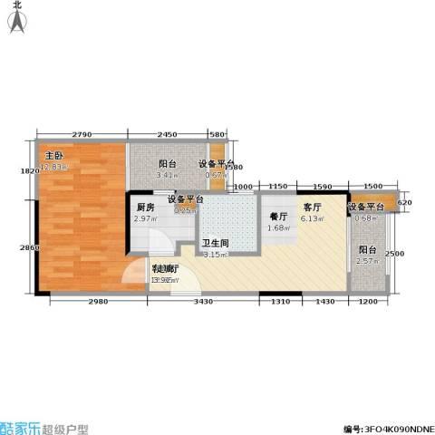复地・上城国际公寓 上城国际公寓1室1厅1卫1厨39.37㎡户型图