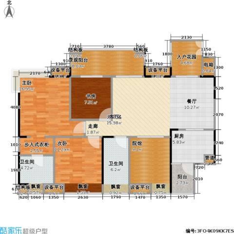 复地・上城国际公寓 上城国际公寓3室0厅2卫1厨149.00㎡户型图