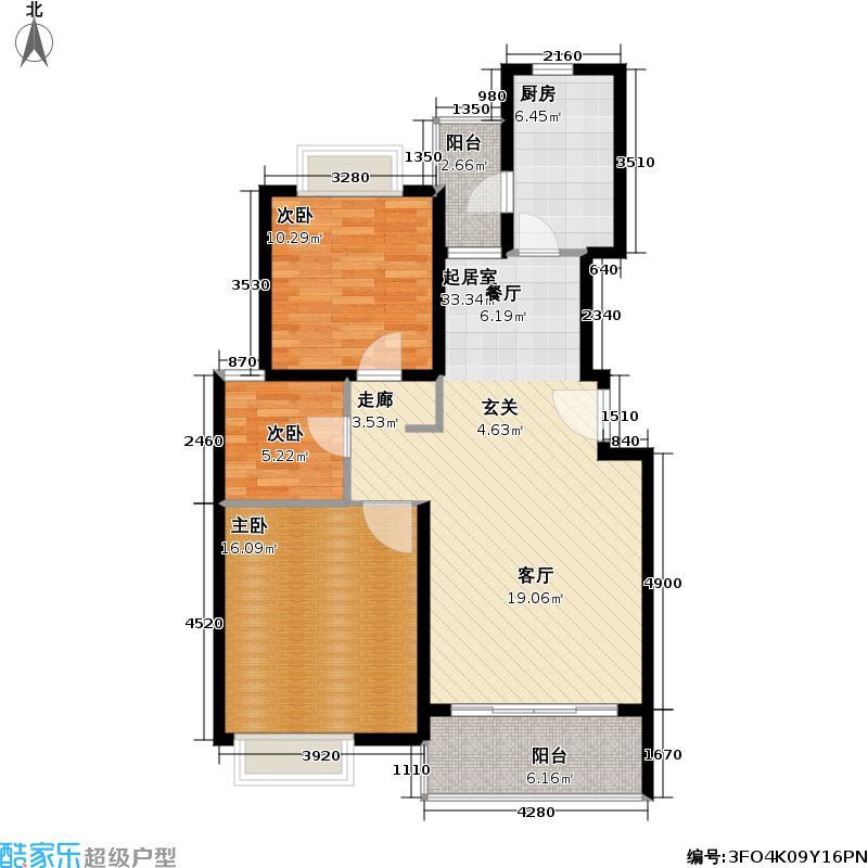 金荣公寓90.00㎡房型户型