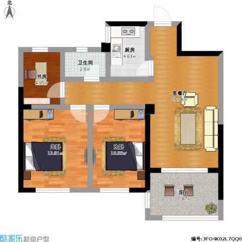 圣联梦溪小镇3室1厅1卫1厨101.00㎡户型图