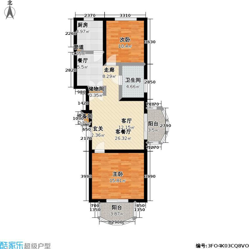 左岸俐景83.00㎡房型户型