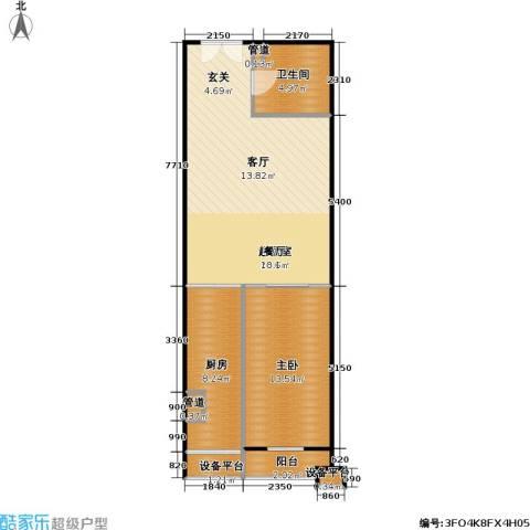 东晶国际1室0厅1卫1厨81.00㎡户型图