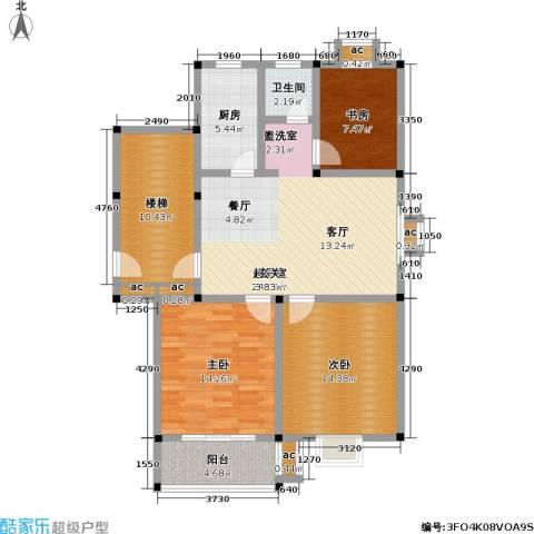 润泽新苑3室0厅1卫1厨99.00㎡户型图