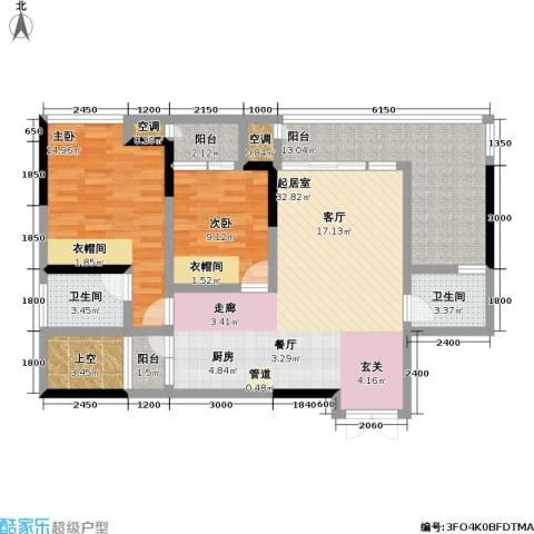 宗申・动力城 动力城2室0厅2卫0厨85.06㎡户型图