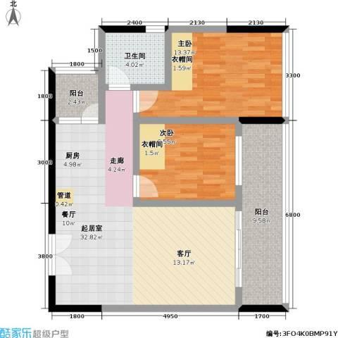 宗申・动力城 动力城2室0厅1卫0厨90.00㎡户型图