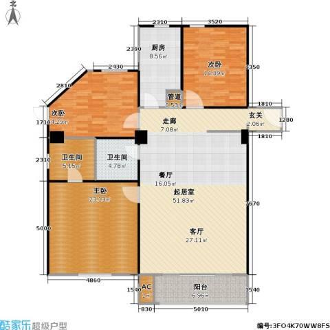 高欣公寓3室0厅2卫1厨140.00㎡户型图