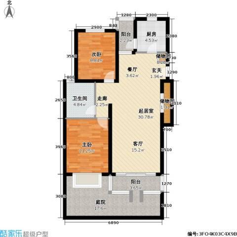 盛世馨园2室0厅1卫1厨119.00㎡户型图