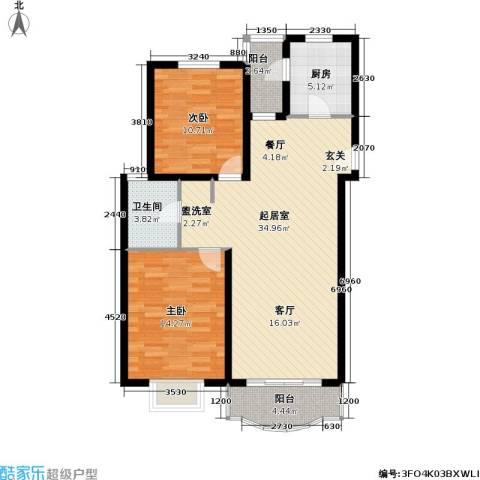 盛世馨园2室0厅1卫1厨87.00㎡户型图