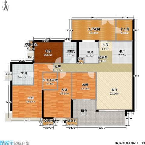 光大榕誉 光大花园 水榕苑4室0厅2卫1厨175.00㎡户型图