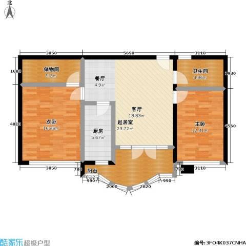 惠龙公寓2室0厅1卫1厨88.00㎡户型图