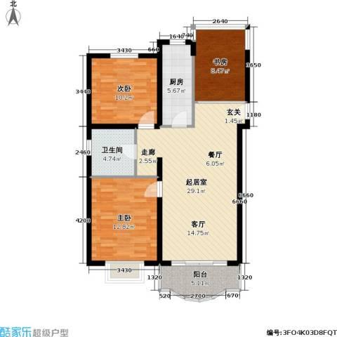 盛世馨园3室0厅1卫1厨87.00㎡户型图