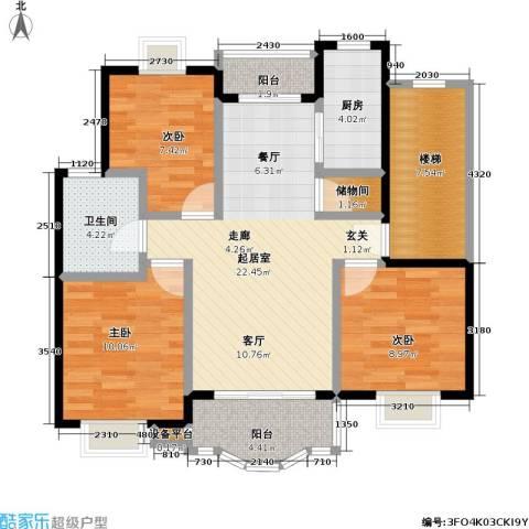 明丰阳光苑3室0厅1卫1厨84.00㎡户型图
