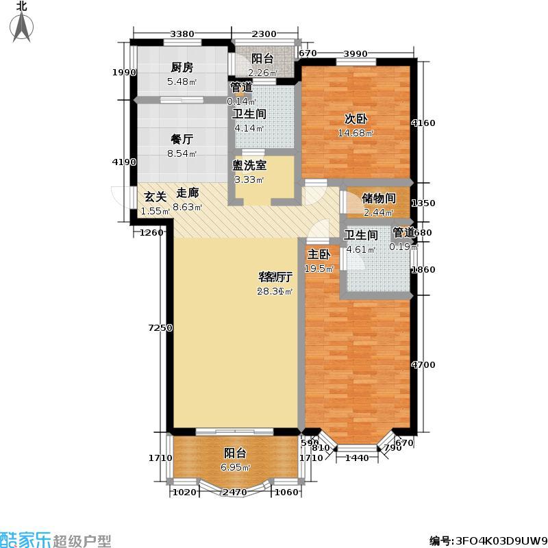 世纪景典126.24㎡房型户型