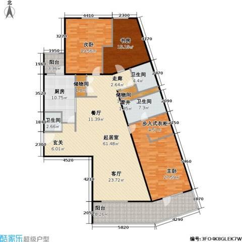 芳城园3室0厅3卫1厨187.00㎡户型图
