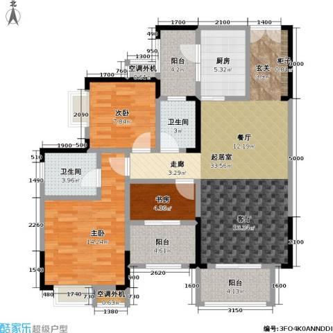 保利 椰风半岛3室0厅2卫1厨90.00㎡户型图