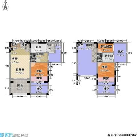 金科蚂蚁SOHO二代2室0厅2卫1厨169.00㎡户型图