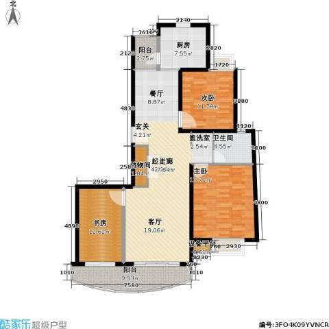 玲珑古北 新贵族名邸3室0厅1卫1厨126.00㎡户型图