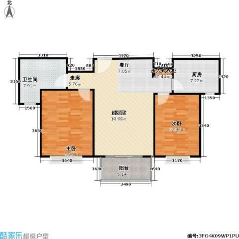 青枫公馆2室0厅1卫1厨86.00㎡户型图