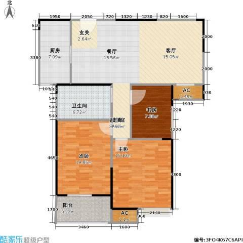 天隽峰3室0厅1卫1厨127.00㎡户型图