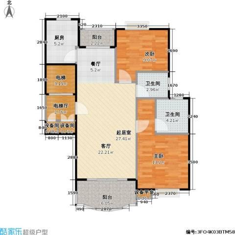 明丰阳光苑2室0厅2卫1厨84.00㎡户型图
